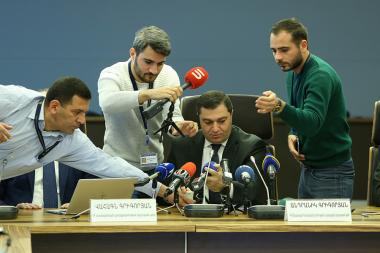 A press conference on the topic of the 'Financial stability report for the first semester of 2019' took place at the Central Bank of Armenia - Photolure News Agency