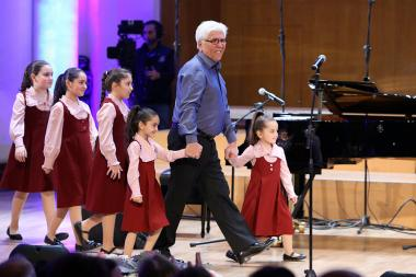 A concert dedicated to the 80th anniversary of the RA Honored Artist, composer Robert Amirkhanyan took place at the Aram Khachaturian Concert Hall - Photolure News Agency