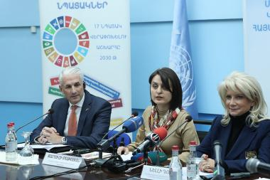 A press conference dedicated to the 16 Days of Activism against Gender-Based Violence took place at the UN Office in Yerevan - Photolure News Agency