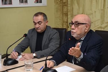 Security Expert Tevan Poghosyan, Former Deputy Foreign Minister Arman Navasardyan and Iranologist Artyom Tonoyan are guests in 'Article 3' press club - Photolure News Agency