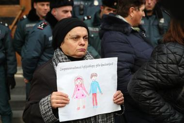 Mothers who lost their children in case of illegal adoption hold a protest action in front of the RA Prosecutor General's Office - Photolure News Agency