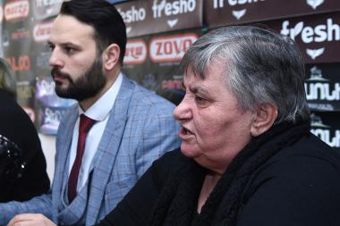 Head of the 'Mother of Soldier' NGO Margarita Khachatryan, advocate Alexander Kochubaev and head of 'Don't Mark Us Absent' NGO Satik Khlghatyan are guests in Hayeli press club - Photolure News Agency