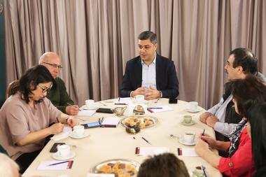 Former NSS Director Artur Vanetsyan holds a meeting with the print media representatives - Photolure News Agency
