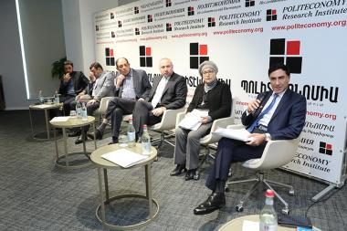 Political Economy Research Institute organized a discussion on the topic of the 'Constitutional Security: Challenges and Solutions' at the DoubleTree by Hilton Hotel - Photolure News Agency