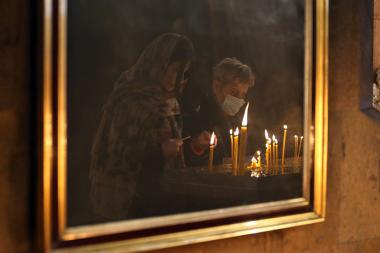 Liturgies were served at the Armenian Apostolic churches despite of Government's exhortation to cancel all the public gatherings in Armenia - Photolure News Agency