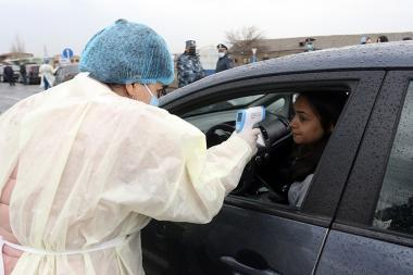 Due to Coronavirus concerns a special situation is declared in Etchmiadzin city since today, Armavir Province, Armenia 16 march 2020 - Photolure News Agency