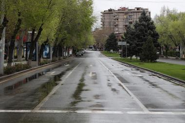 Emptied streets of Yerevan due to Coronavirus concerns in Yerevan, Armenia - Photolure News Agency