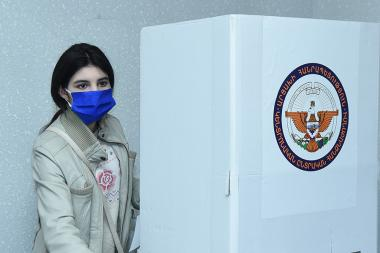 The elections for the second stage of the Artsakh Republic President took place at the polling station located in Yerevan, Armenia - Photolure News Agency