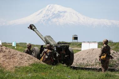 Military exercises took place during a press tour organized by the RA Ministry of Defense at the Vazgen Sargsyan Military Institute of Yerevan, Armenia - Photolure News Agency