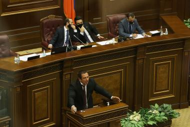 The motion to strip Gagik Tsarukyan's parliamentary immunity was considered during a regular session of the RA National Assembly - Photolure News Agency