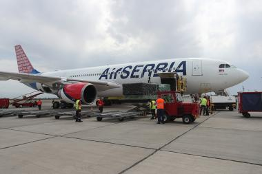 The first plane loaded with medical supplies and equipment arrived in Armenia from Serbia today. Serbia is providing a large-scale humanitarian assistance to Armenia in support of the fight against the coronavirus epidemic - Photolure News Agency