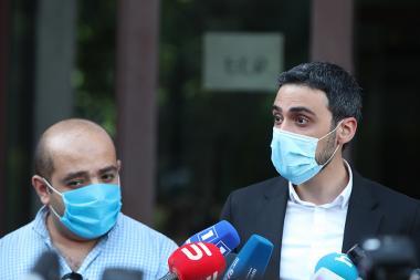 RA second president Robert Kocharyan's defenders Hovhannes Khudoyan and Aram Vadevanyan - Photolure News Agency