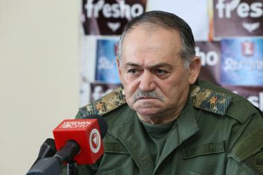 Chief Major General Astvatsatur Petrosyan gave a press conference in Tesaket press club - Photolure News Agency
