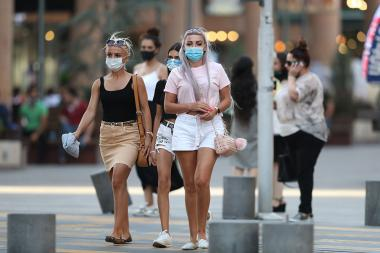 Due to spread of coronavirus (COVID-19), the Armenian Government has decided to extend the state of emergency for another month, people continue to wear protective masks in public places - Photolure News Agency