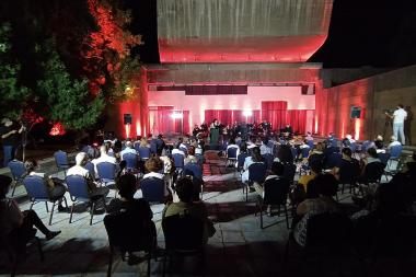 Outdoor performances by two Armenian chamber music groups were awarded to the beginning of the concert season 2020-2021 of the National Centre of Chamber Music. - Photolure News Agency