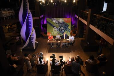 A press conference took place ahead of the 'Yerevan Jazz Fest' opening concert in Berd town of Tavush Province, Armenia - Photolure News Agency