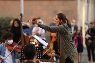 A concert under the slogan of 'JOIN, LET'S BECOME ONE SONG, ONE STRIKE' took take place in front of the Yerevan State Conservatory after Komitas - Photolure News Agency