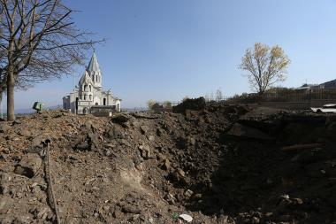 City of Shushi after Azerbaijani shelling in Artsakh Republic - Photolure News Agency