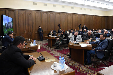 Prosperous Armenia Party holds a working discussion on the topic of the 'Issues in the border regions, ways of solution, protection and security' took place at the RA National Assembly - Photolure News Agency