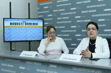 A press conference on the 31st anniversary of the Armenian Genocide in Baku and Artsakh war took place in Novosti-Armenia press center - Photolure News Agency