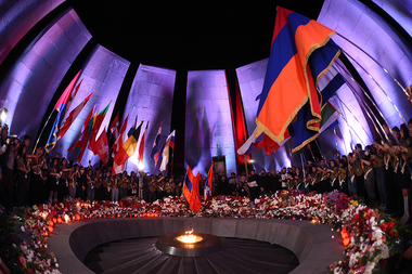 Torchlight procession took place from the Freedom Square to the Armenian Genocide Memorial Complex - Photolure News Agency