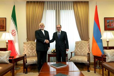 RA Minister of Foreign Affairs Ara Ayvazyan received Minister of Foreign Affairs of Iran Mohammad Javad Zarif - Photolure News Agency