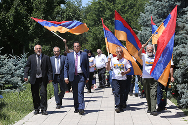 Free Homeland Alliance holds a pre-election campaign near the platform next to the Genocide Museum in Yerevan, Armenia - Photolure News Agency