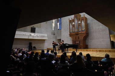 'La Clique' offers an original program interspersed with pieces of Armenian and French music at the National Center of Chamber Music in Yerevan, Armenia - Photolure News Agency
