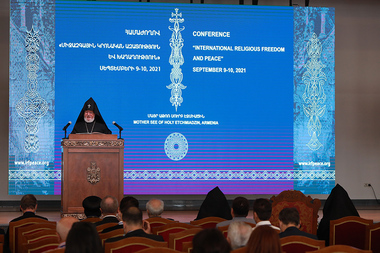 With the blessing of His Holiness Karekin II, a conference under the title of 'International Religious Freedom and Peace' took place at the Mother See of Holy Etchmiadzin - Photolure News Agency