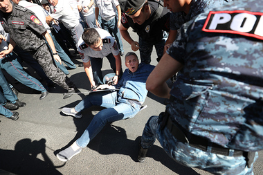 A protest action against the events dedicated to the 30th anniversary of the Republic of Armenia took place on Republic Square - Photolure News Agency
