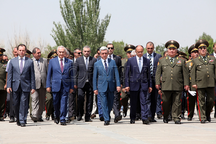 RA President Serzh Sargsyan attends the swearing-in ceremony
