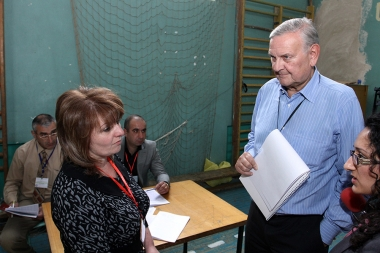 Special Coordinator of the OSCE election observer mission for the parliamentary elections in Armenia Francois-Xavier de Donnea (Belgium) - Photolure News Agency