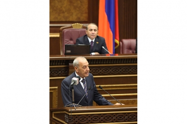 Speaker of the National Assembly of Lebanon Nabih Berri chairs the session of the RA NA - Photolure News Agency