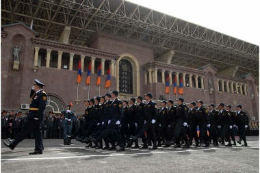 Solemn parade on the occasion of the Police Day, at the Republic Stadium after Vazgen Sargsyan - Photolure News Agency