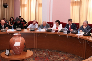 World Armenian Congress, the RA Ministry of Diaspora and the RA NAS hold a conference on the issues of the 100th anniversary of the Great Armenian Genocide at the RA NAS session hall - Photolure News Agency