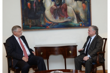 RA Minister of Foreign Affairs Edward Nalbandian received EU Special Representative for the South Caucasus and the crisis in Georgia Herbert Salber - Photolure News Agency
