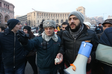 A protest action in support of Artur Sargsyan who supplied food to the members of 'Sasna Tsrer' group - Photolure News Agency