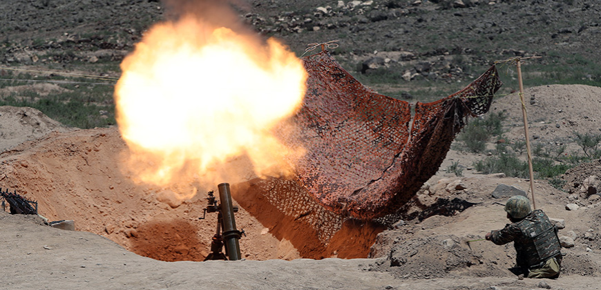 Armenian Freedom Fighter Military Council holds a protest action in front of the RA Government's building